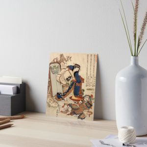 The Strong Oi Pouring Sake by Katsushika Hokusai Art Boards