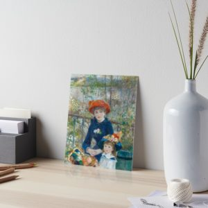 Two Sisters on the Terrace Oil Painting by Auguste Renoir Art Boards