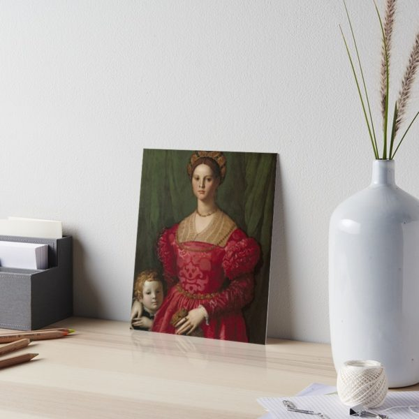 A Young Woman and Her Little Boy Oil Painting by Agnolo Bronzino Art Boards