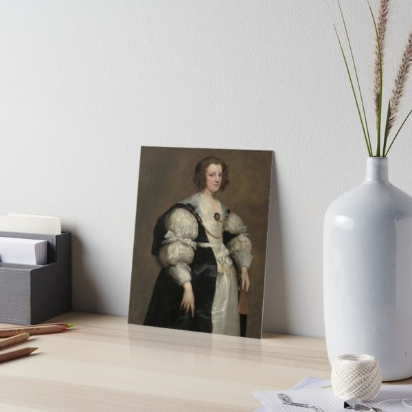 Lady with a Fan Oil Painting by Sir Anthony van Dyck Art Boards