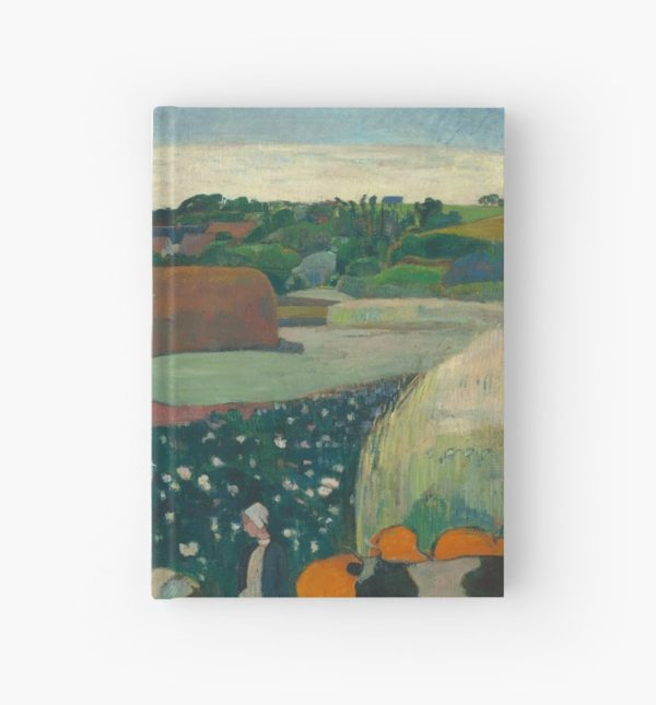 Haystacks in Brittany Oil Painting by Paul Gauguin Hardcover Journals