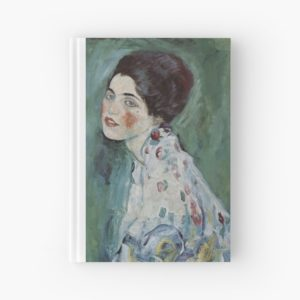 Stolen Art - Portrait of a Lady by Gustav Klimt Hardcover Journals