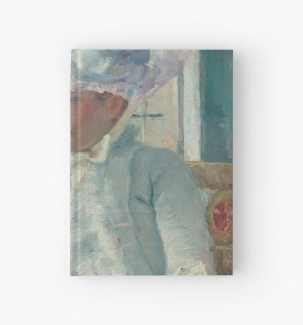 Young Girl at a Window Oil Painting by Mary Stevenson Cassatt Hardcover Journals