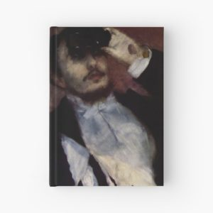 The Theatre Box -  La Loge Oil Painting by Auguste Renoir Hardcover Journals