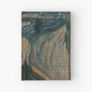The Scream Lovingly Knitted by Granny E-Munch Hardcover Journals