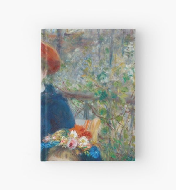 Two Sisters on the Terrace Oil Painting by Auguste Renoir Hardcover Journals