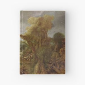 Stolen Art - Landscape with an Obelisk by Govert Flinck Hardcover Journals