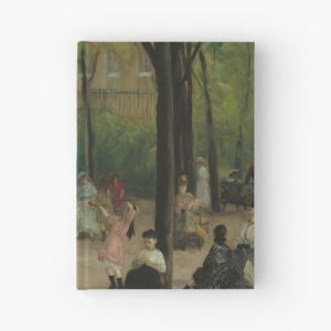 Luxembourg Gardens Oil Painting by William James Glackens Hardcover Journals