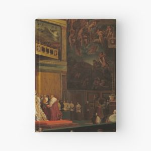 Pope Pius VII in the Sistine Chapel Oil Painting by Jean-Auguste-Dominique Ingres Hardcover Journals