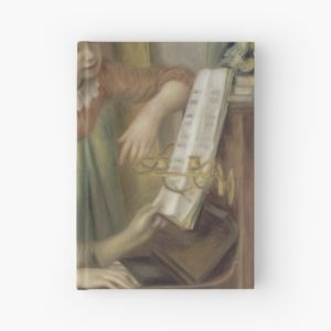 Young Girls at the Piano Oil Painting by Pierre Auguste Renoir Hardcover Journals