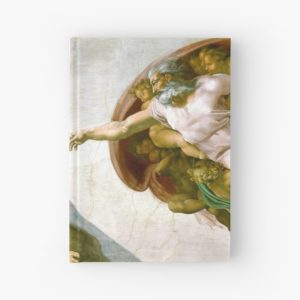 The Creation of Adam Painting by Michelangelo Sistine Chapel Hardcover Journals