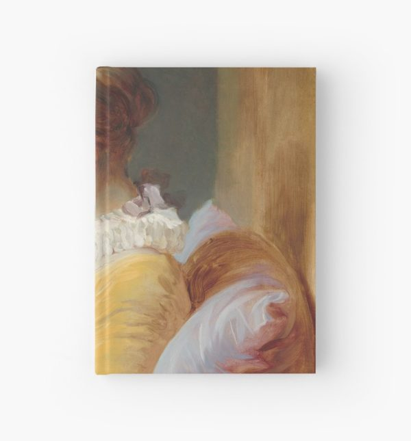 Young Girl Reading Painting by Jean-Honoré Fragonard Hardcover Journals
