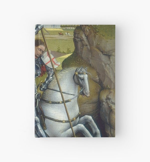 Saint George and the Dragon Oil Painting by Rogier van der Weyden Hardcover Journals