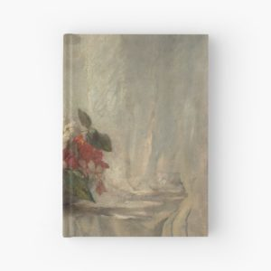 Flowers on a Window Ledge Oil Painting by John La Farge Hardcover Journals