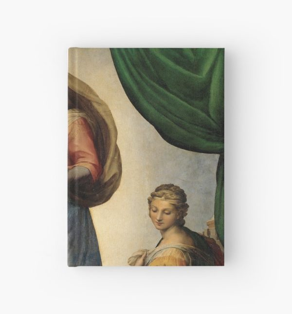 The Sistine Madonna Oil Painting by Raphael Hardcover Journals