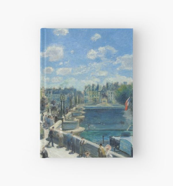 Pont Neuf Paris Painting by Auguste Renoir Hardcover Journals