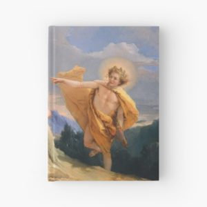 Oil Painting Apollo Pursuing Daphne by Giovanni Battista Tiepolo Hardcover Journals