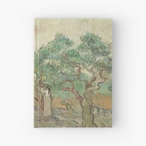 The Olive Orchard by Vincent van Gogh - Classic Art Hardcover Journals