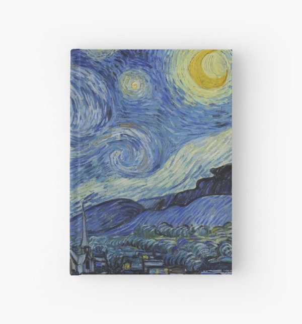 Starry Night Oil painting by Vincent van Gogh Hardcover Journals