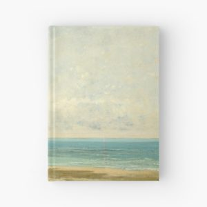 Calm Sea Oil Painting by Gustave Courbet Hardcover Journals