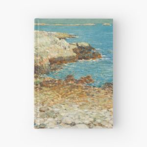 A North East Headland Oil Painting by Childe Hassam Hardcover Journals