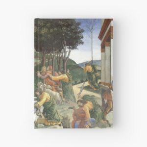 Trials of Moses Painting by Botticelli - Sistine Chapel Hardcover Journals