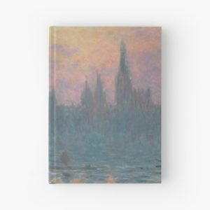 The Houses of Parliament  Sunset by Claude Monet Hardcover Journals