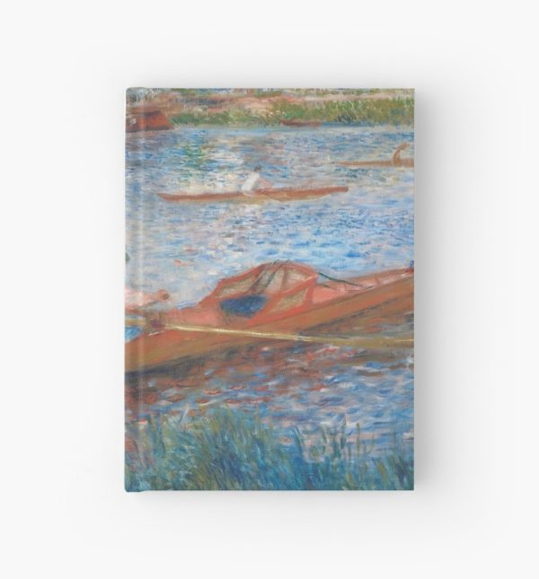 Oarsmen at Chatou Painting by Auguste Renoir Hardcover Journals