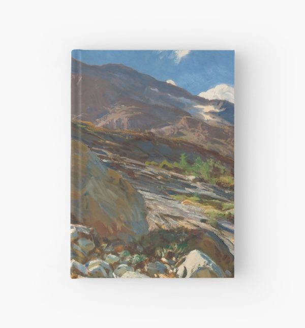 Simplon Pass Oil Painting by  John Singer Sargent Hardcover Journals