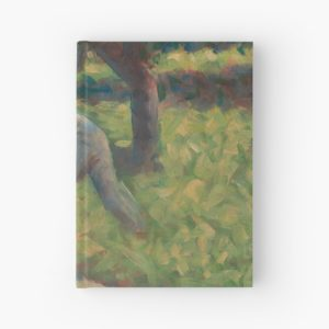 Peasant with a Hoe Oil Painting by Georges Seurat Hardcover Journals