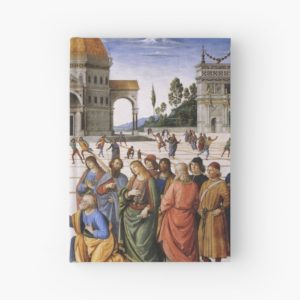 The Delivery of the Keys Painting by Perugino Sistine Chapel Hardcover Journals