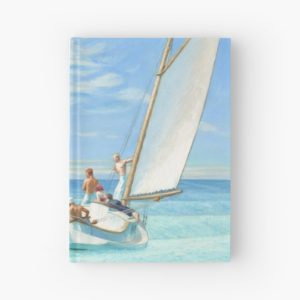Ground Swell Oil Painting by Edward Hopper Hardcover Journals
