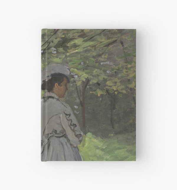 Bazille and Camille Painting by Claude Monet Hardcover Journals
