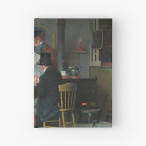 Waiting for the Stage Oil Painting by Richard Caton Woodville Hardcover Journals
