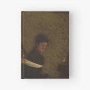 Singing a Pathetic Song Oil Painting by Thomas Eakins Hardcover Journals
