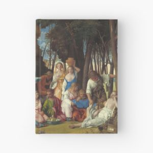 The Feast of the Gods Painting by Giovanni Bellini and Titian Hardcover Journals