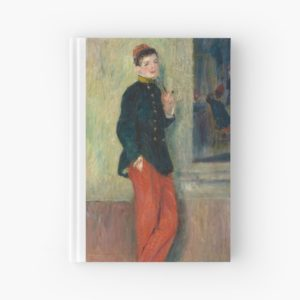The Young Soldier oil Painting by Auguste Renoir Hardcover Journals