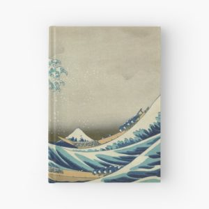 The Classic Japanese Great Wave off Kanagawa by Hokusai Hardcover Journals