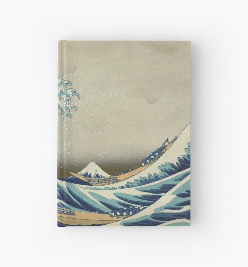 ddf3f00ea502f The Classic Japanese Great Wave off Kanagawa by Hokusai Hardcover Journals