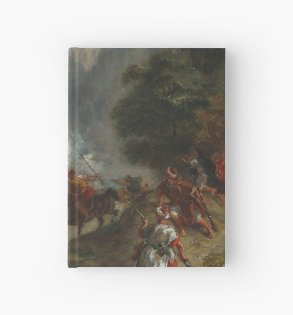 Arabs Skirmishing in the Mountains Oil Painting by Eugène Delacroix Hardcover Journals