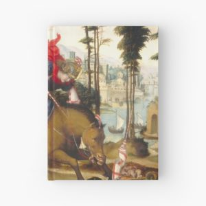 Saint George and the Dragon Oil Painting by Sodoma Hardcover Journals