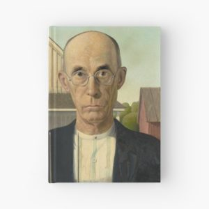 American Gothic Oil Painting by Grant Wood Hardcover Journals