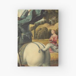 Saint George and the Dragon Oil Painting By Raphael Hardcover Journals
