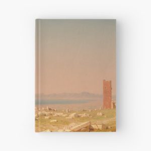 Ruins of the Parthenon Oil Painting by Sanford Robinson Gifford Hardcover Journals