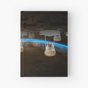 Pugvasion Alien Invasion by Drone Hardcover Journals