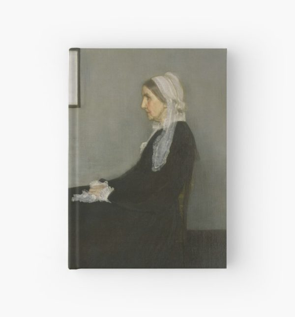 Whistlers Mother Oil Painting by James McNeill Whistler Hardcover Journals