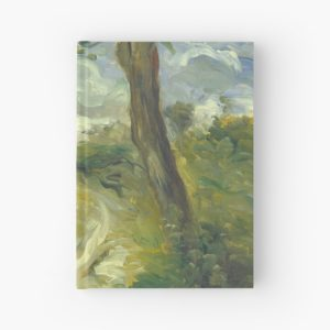 Landscape Between Storms Oil Painting by Auguste Renoir Hardcover Journals