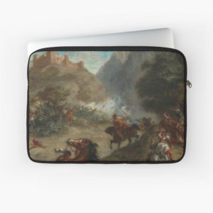 Arabs Skirmishing in the Mountains Oil Painting by Eugène Delacroix Laptop Sleeves