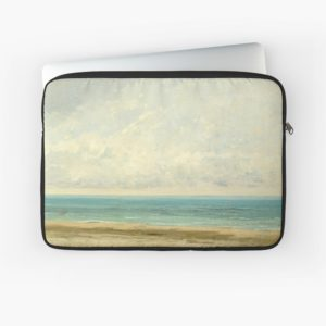 Calm Sea Oil Painting by Gustave Courbet Laptop Sleeves