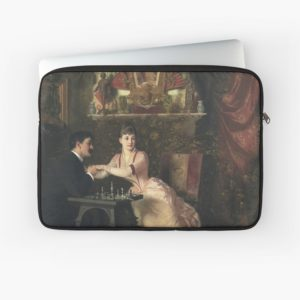 The Proposal Oil Painting by Knut Ekwall Laptop Sleeves